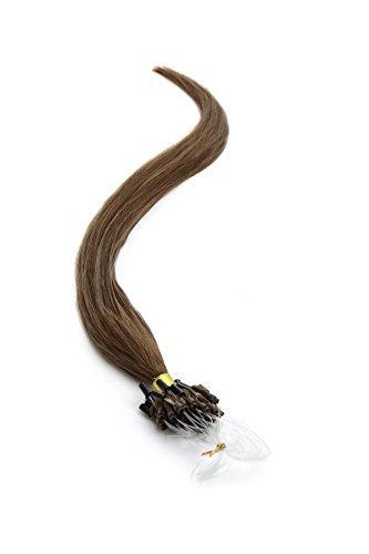 Extensions De Cheveux Boucle Micro Anneau 55.9cm Couleur 6 Brun Clair par Fierté Américaine