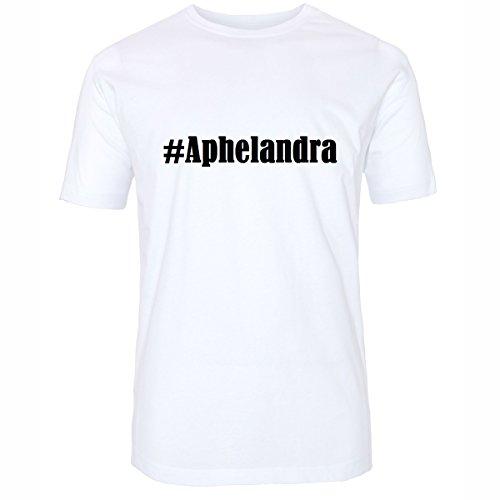 T-Shirt#Aphelandra Größe 4XL Farbe Weiss Druck schwarz