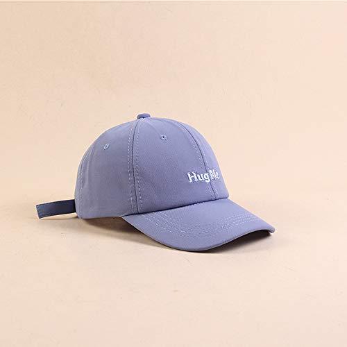 Kreative Farbe Brief baseballmütze weibliche kleine frische Kappe Jugend Outdoor Sonnenhut männlich blau M (56-58 cm)