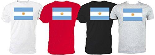 Argentinian Flag-Maglietta Rugby World Cup (grigio)