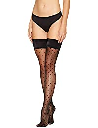 72055065771d3 J by Jasper Conran Womens Black Sheer Spot Hold-Ups