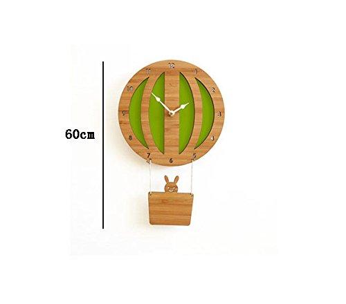 Global- Einfache Moderne Heißluft-Ballon-Form-hölzerne Wand-Taktgeber, Kind-Raum-Karikatur-moderner Kreativer Wand-Anhänger ( Farbe : #2 - Karikatur-wand-uhr