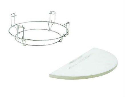 Kamado Joe Half Moon Deflector Plates - Set of 2 and Flexible Cooking Rack Joe 24