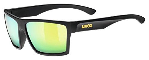 Uvex LGL 29 Gafas de Ciclismo, Unisex Adulto, Negro/Amarillo, Talla Única