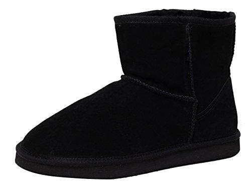 ZAPATO EUROPE ECHTES LAMMFELL UND Leder Damen Winter Stiefel Boots Fellstiefel Kurzstiefel schwarz Gr. 39 WARM GEFÜTTERT