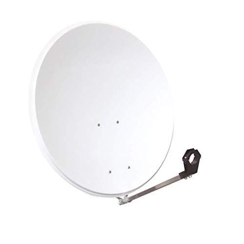 Emme Esse 100cm Hellgrau Stahl Satelliten-Schüssel Sat-Spiegel/Sat Antenne(Astra, Hotbird,Türksat, Sirius geeignet)