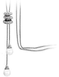 Beautiful Austrian Diamond Long Necklace For Women & Girls (Gold)