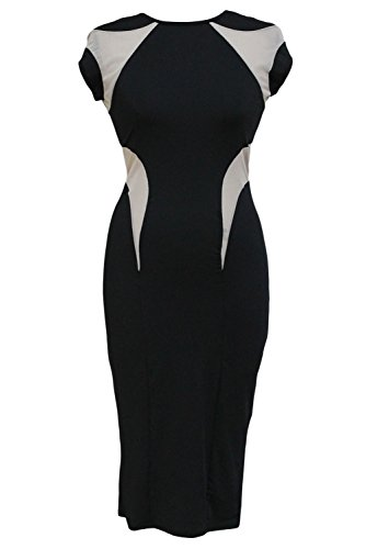 E-Girl femme Noir SY6487 robe de cocktail Noir