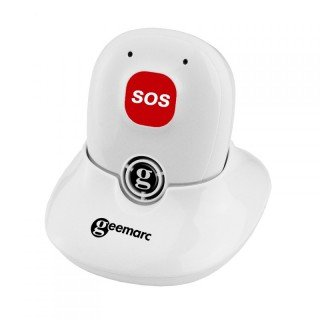 Geemarc SOSPRO295_WH_VDE Notruf-Mobilteil Dect für Amplidect (mobile Freisprecheinrichtung), Deutsche Version