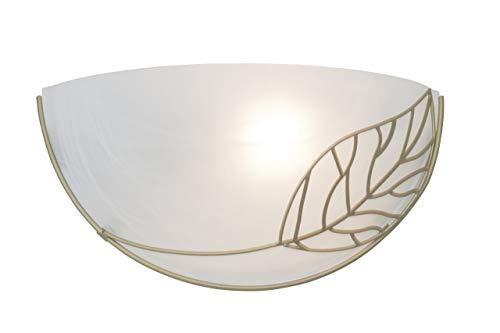 Brilliant Anais Wandhalbschale, 1x E27 maximal 53W, Metall/Glas, weiß-alabaster/gold 93983/70 -