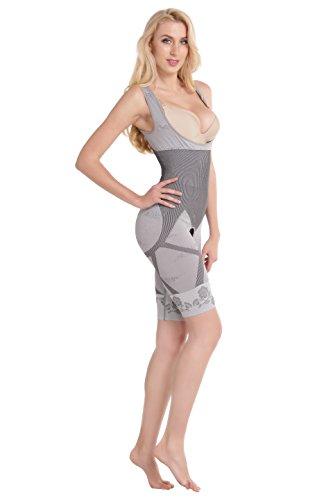 Aibrou Shapewear Donne Carbone Figura Forme degli Organi Shaping Leggings Vita Shaper Piacevole Modella Tuta Larga Pantaloni Scanalate. Biancheria Intima Siamese Ricompattato.