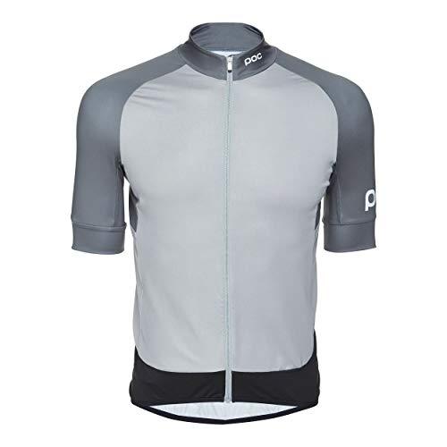 POC Herren Essential Road Jersey, Francium Multi Grey, M -