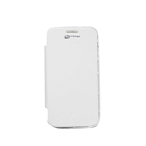 iCandy™ Synthetic Leather Flip Cover For Micromax Canvas HD A116 - WHITE  available at amazon for Rs.149