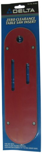 DELTA 36-862 Zero Clearance Table Insert for Left Tilt Unisaws and Contractor Saws -