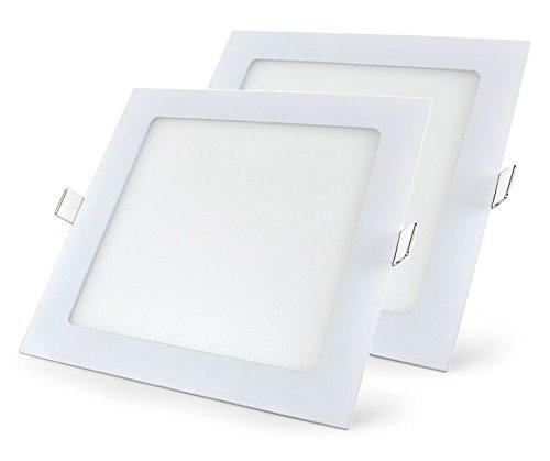 Mazda LED Panel 15W Ceiling Light (Pack of 2, White, Square)