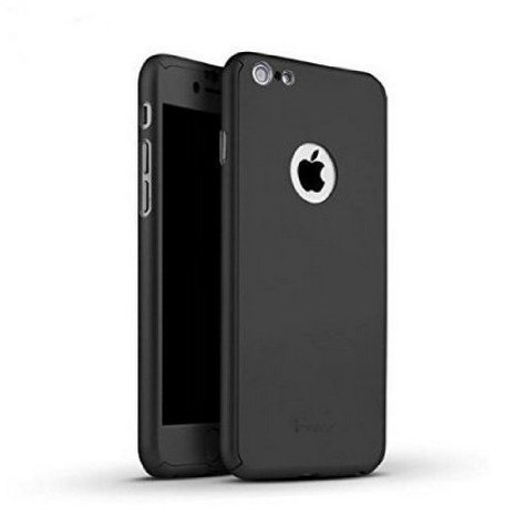 SDO™ Protective Slim Fit 360 Hybrid Body Cover Case with Tempered Glass for Apple iPhone 5 / 5S (Black)