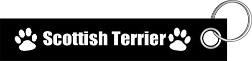 Scottish Terrier Hund Hunde Hunderasse Pfote Schlüsselanhänger Schlüsselband Keyholder Lanyard -