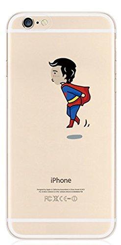Coque souple en TPU avec motif de personnages de dessin animé Disney et super-héros pour Apple iPhone 5/5S, 6 et 6 Plus Transparent , plastique, superman, Apple iPhone 5/5s