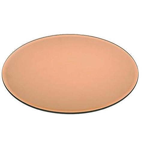 Sweety Maison Nouvel écran–Plateau en verre miroir rond en cuivre Bougie Décoration de table de mariage–20–30cm, 20 cm