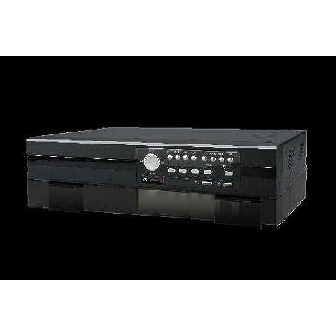 avz404AV de Tech, AV de Tech de quadbrid de 4canales DVR para tvi (1080P) de/AHD (1080P)/Analog (CVBS) y cámaras IP insg. 100imágenes/segundo (4x 25fps) a 1080p en Live de imagen, grabación y reproducción de detección automática para HD tvi de, AHD de O cámaras analógicas de 2puertos SATA diferentes tipos de aufzeichnungs (normal, tiempo Plan, Actividad, alarma)