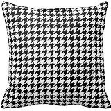 """Generic Houndstooth Pattern Black and White Decorative Throw Pillow Case Cushion Cover 20""""x20"""""""