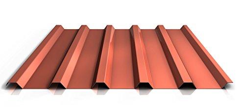 Trapezblech | Profilblech | Dachblech | Profil PS35/1035TRA | Material Stahl | Stärke 0,40 mm | Beschichtung 25 µm | Farbe Ziegelrot
