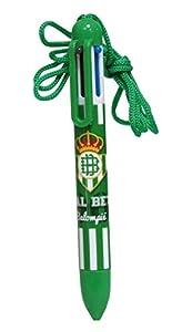 Real Betis Balompié- Bolígrafo 6 Colores, Multicolor (CYP BSC-01-BT)