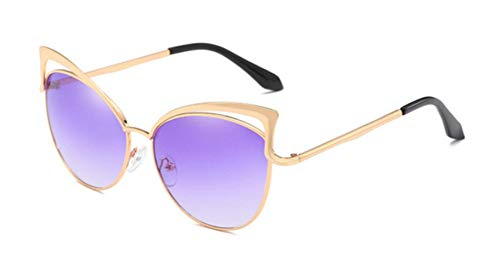 Passionate turkey Leidenschaftlich Truthahn Mode Katzenauge Sonnenbrille Frauen Designer Zweistrahl Spiegel Männer Sonnenbrille Vintage weibliche Oculos de Sol, 16-Gradienten lila