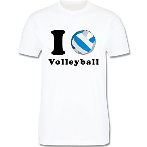 Volleyball - I Love Volleyball - Herren Premium T-Shirt Weiß