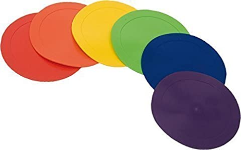 Exercise Fitness Gymnastic Practice Training Poly Edge Floormarker Disc Set Of 6