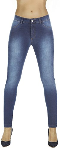 elegante Shape-Leggings versch. Styles * formend modellierend schlankmachend * Gr. S-XXL Jeans Schlankmacher (Timea hellblau Gr. M)