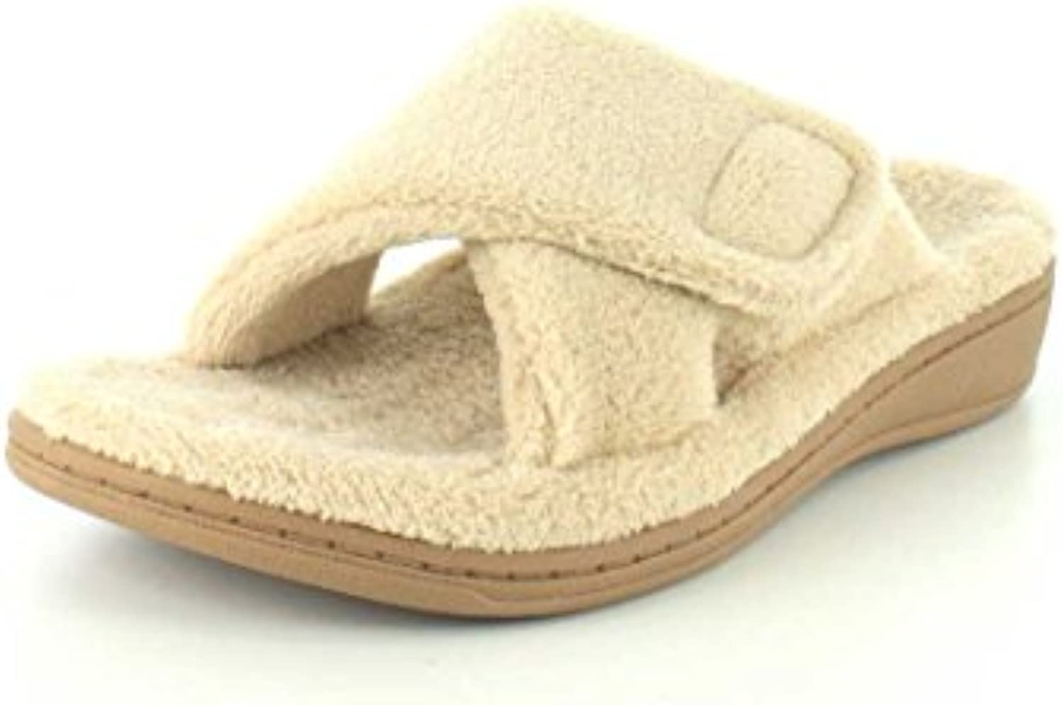 Orthaheel Womens Relax Slippers in Tan Size 10