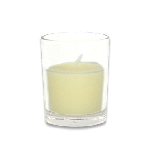 Zest Kerze cvz-018_ 8Werkzeugkoffen Ratschenkasten rund Glas Votivkerze, elfenbeinfarben
