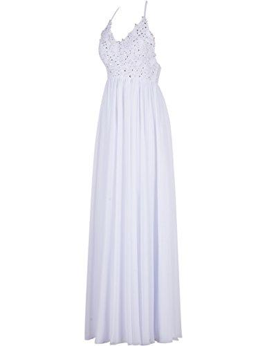 Dresstells Robe de demoiselle d'honneur Robe de cérémonie forme empire bretelles spaghetti longueur ras du sol Corail