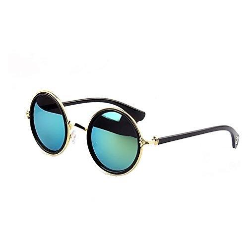Vococal - 1 par Gafas de Sol Colores Sombras - Lentes de Espejo de Ret