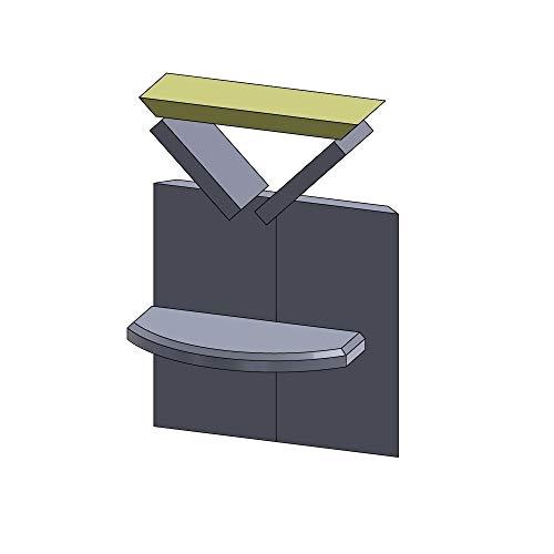 Flamado Heizgasumlenkplatte Oben 390x130x30mm (Vermiculite)