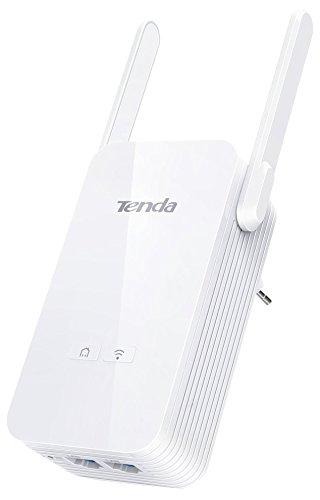 Powerline 2-port (Tenda PA6 2-Port Gigabit WLAN Powerline Adapter (2x Gigabit Port bis zu 1000 MBit/s, 2x externe Antennen;  WLAN )bis zu 300 MBit/s, HomePlug AV2, Bis zu 300Meter, Plug & Play) weiß)