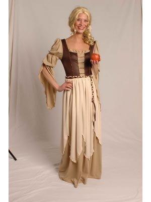 Generique - Mittelalterliches Magd-Kostüm braun-beige