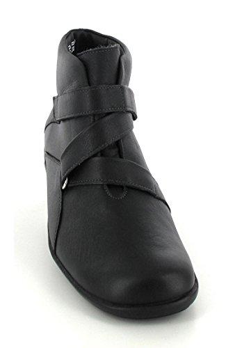 Solidus ® kim bottes-fixation velcro Noir - Noir