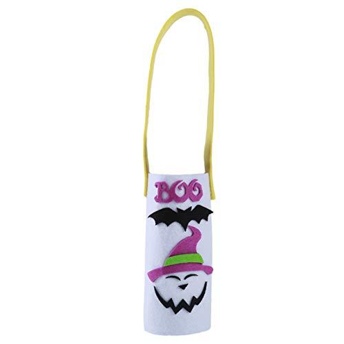 Bigsweety Weinflasche Halloween Weihnachten Abdeckung Tragbare Kürbis Ghost -