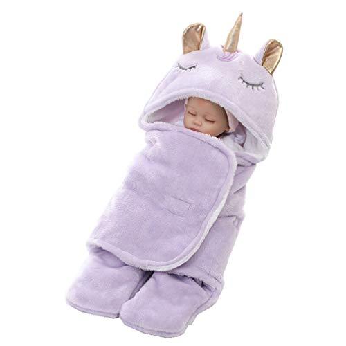 mama stadt Bambino Neonato Unicorn Swaddle Wrap Blanket Winter 65 * 75CM