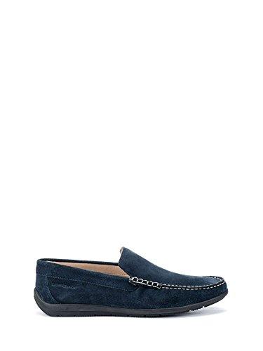 Lumberjack leman scarpe uomo mocassini in camoscio blu navy blu 39