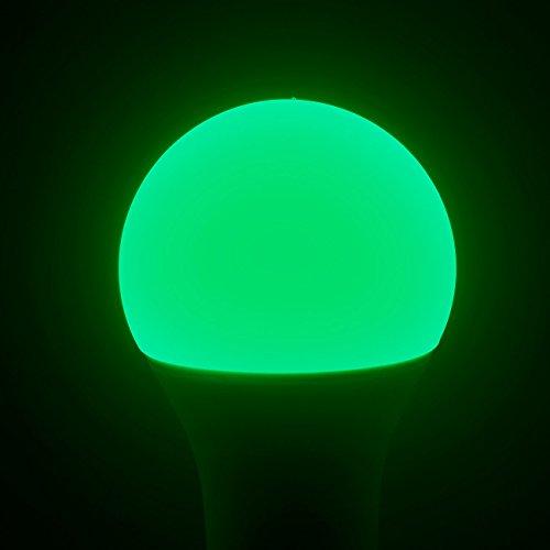 Luminea WiFi LED: WLAN-LED-Lampe, komp. mit Alexa Voice Service, E27, RGBW, 10 Watt, A+ (WLAN Leuchtmittel) - 4