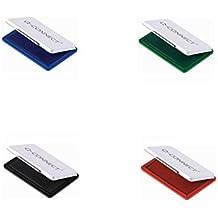 Stempelkissen 9x5,5cm 4 Farben, schwarz/blau/rot/grün