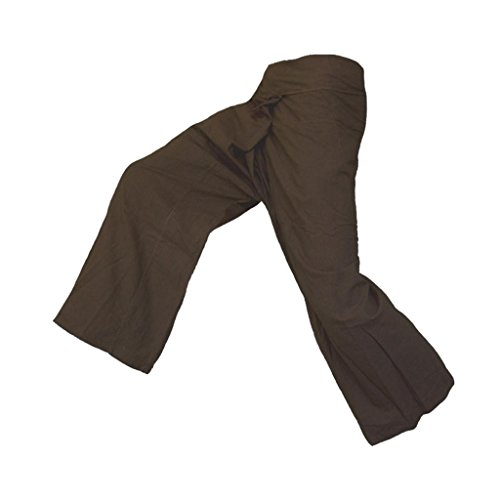 Panasiam - Pantaloni thai da pescatore, un classico, qui in XL (da 1,80 m di altezza) Marrone