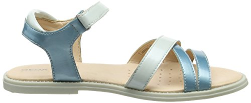 Geox Karly D, Sandales Bout Ouvert Fille Turquoise (Watersea/Lt Bluec3B4Z)