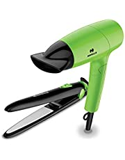 Havells HC4035 Hair Dryer and Hair Straightener Combo (Green)