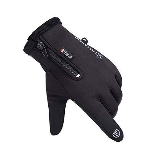 YDS SHOP Wasserdicht rutschfest atmungsaktiv komfortable Handschuhe elastisch warm Touchscreen (Color : Black) (Schützende Smartphone-wasserdicht)