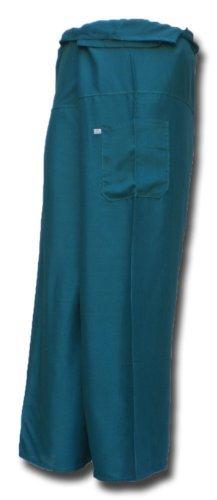 Thai Fisherman Pants Yoga turquoise écharpe longue pantalons paréos douces