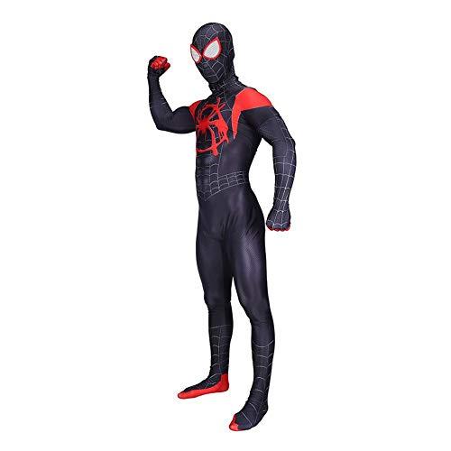 Spider Kostüm Tanz - DFRTYE Halloween SpidermanKostüm Herren,Superheld Fasching Film Bodysuit Party Cosplay Onesies Verkleidung,Men-XXXL